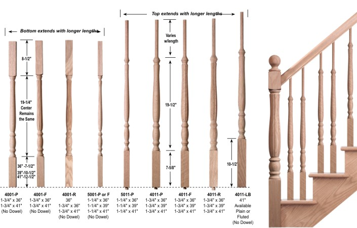 7b122b39b08 Red Oak Savannah balusters. Please contact us if you do not see a price for  something.